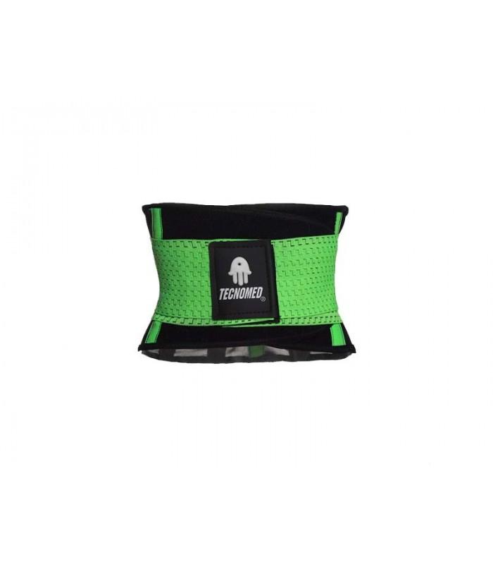 Green Weightlifting belt and Shaper (Faja Tecnomed Verde)