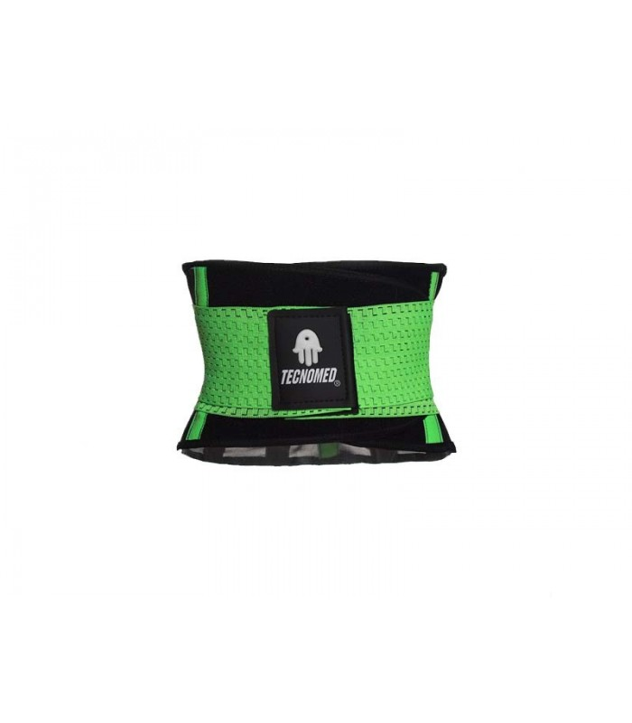 Green Weightlifting belt and Shaper (Faja Tecnomed Verde)